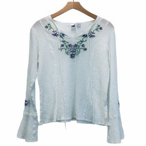 Cowgirl up White Embellishment Top